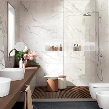 White Bathroom Tiles Marazzi