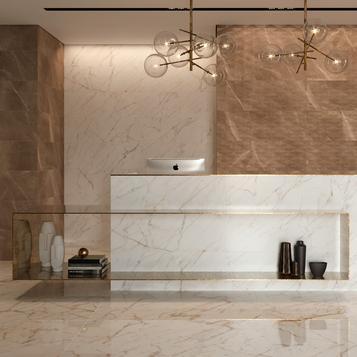 Brown Marble Effect Tiles Marazzi
