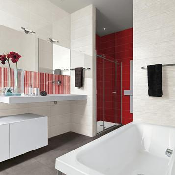 Tiles Bathroom Red Marazzi 813 Cloud Wall