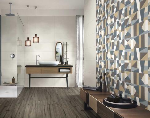 Bathroom Tiles: Ceramic And Porcelain Stoneware   Marazzi 10004