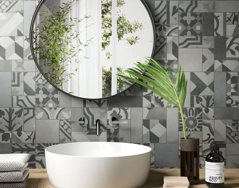 Bathroom tiles: ceramic and porcelain stoneware - Marazzi 10497
