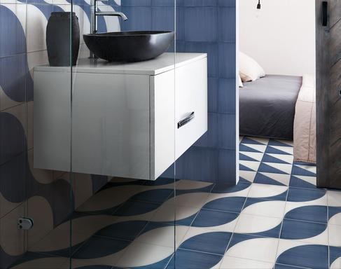 Bathroom tiles: ceramic and porcelain stoneware - Marazzi 10448