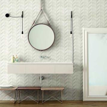 Tiles White Stone Effect Marazzi 907