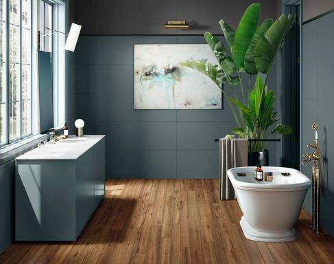 Bathroom flooring ceramic and porcelain stoneware marazzi - Composizione piastrelle bagno ...