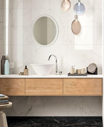 Elegance: Marble effect porcelain stoneware: discover all the effects - Marazzi