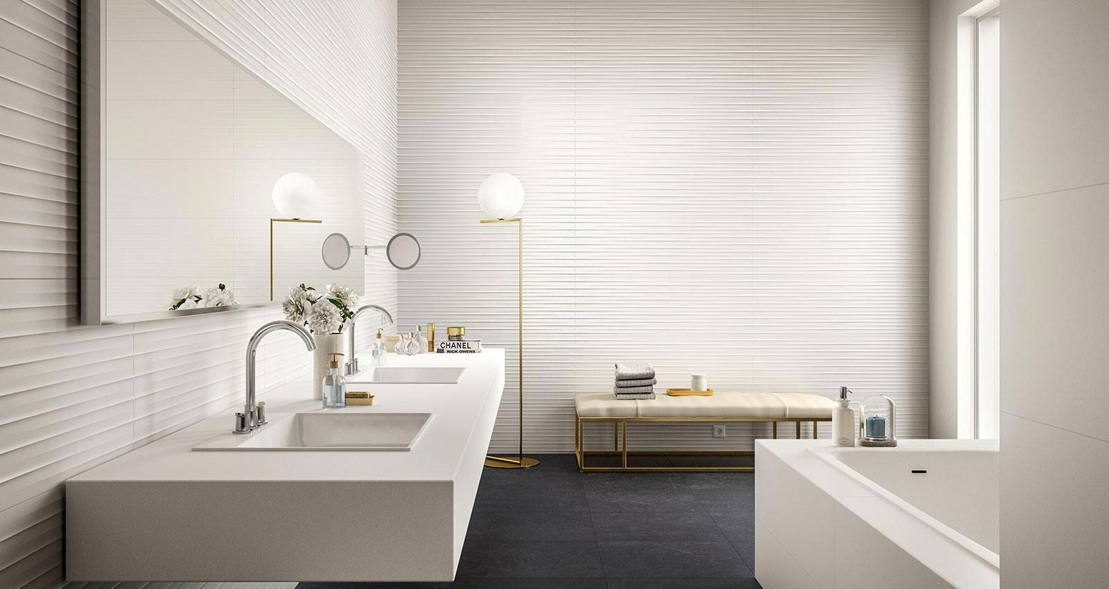 Essenziale - White ceramic bathroom covering | Marazzi