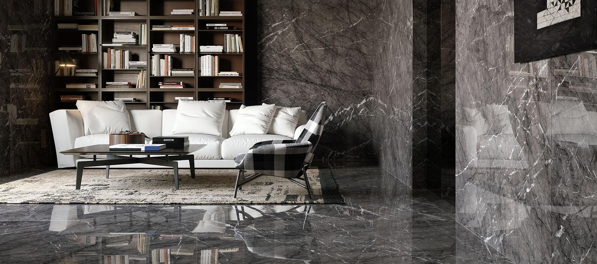 Grande marble look - Marble Effect - Living Room