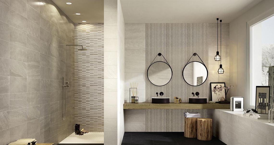 Interiors Stone Effect Bathroom
