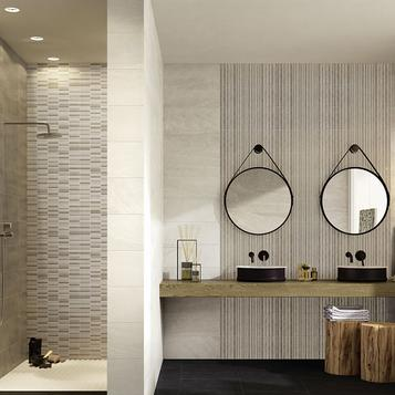 Tiles bathroom stone effect marazzi 703