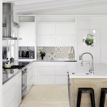 Beige Kitchen Tiles