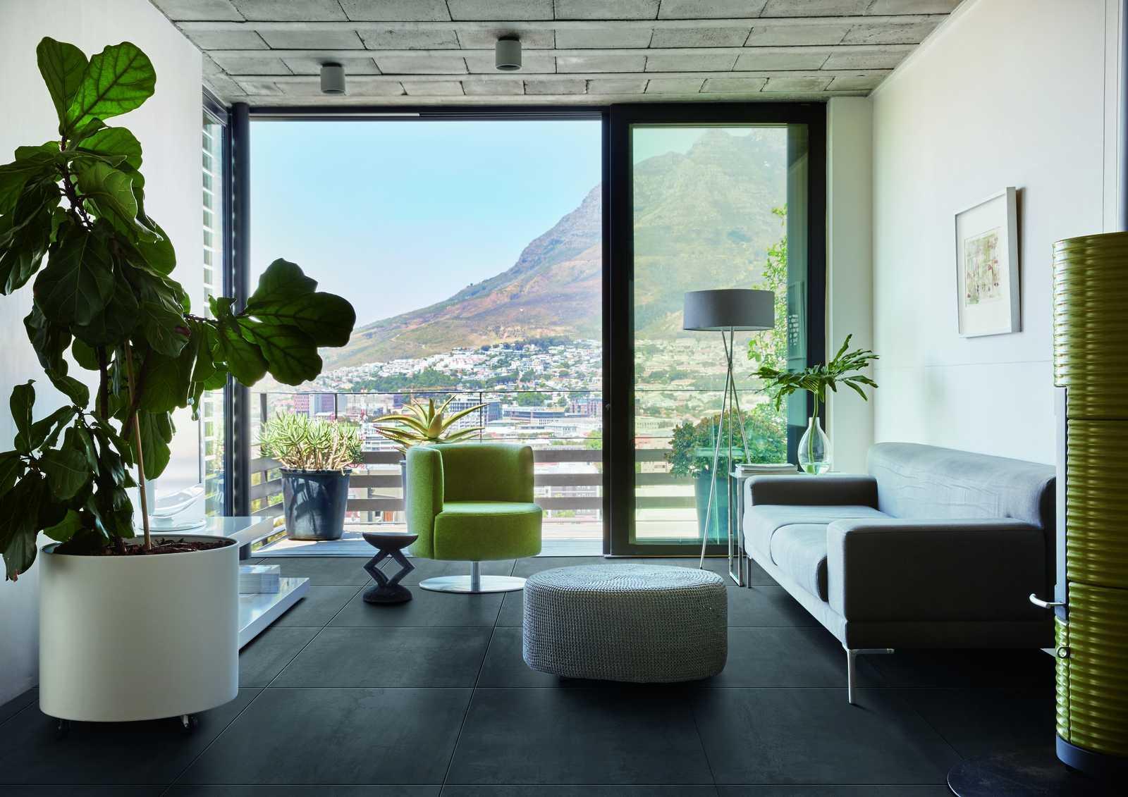 Tiles Living Room Black