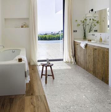 Bathroom flooring ceramic and porcelain stoneware marazzi - Rivestimenti bagno vietri ...