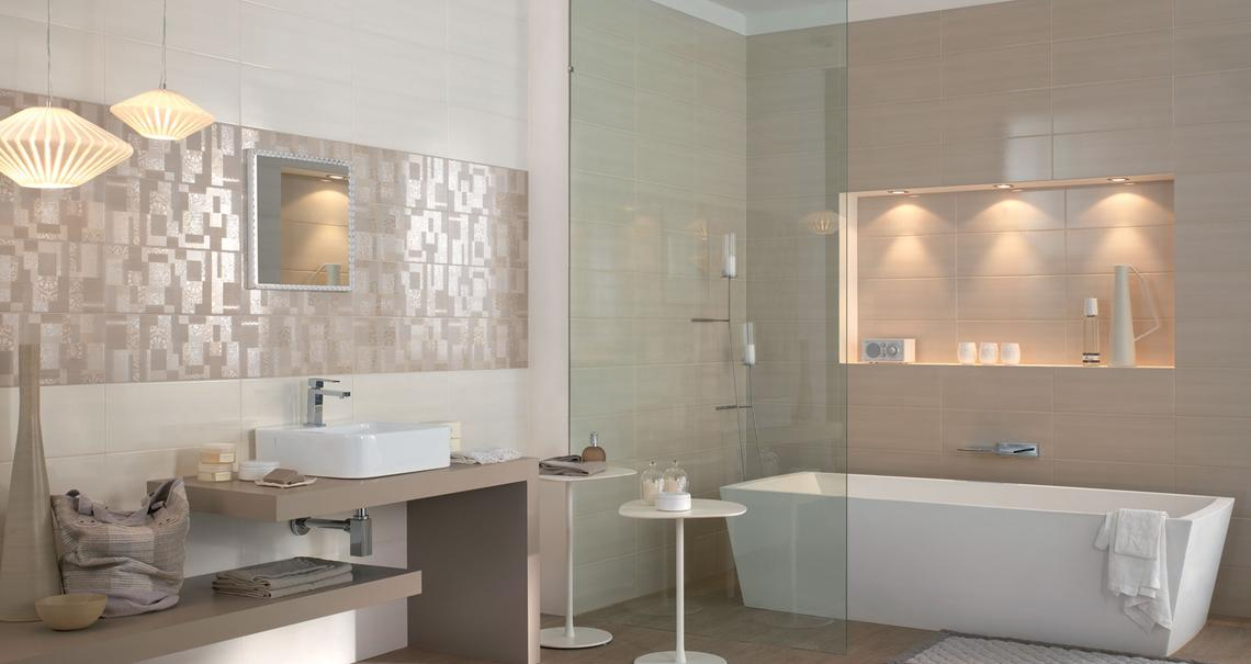 Nuance ceramic bathroom covering marazzi - Piastrelle colorate per bagno ...