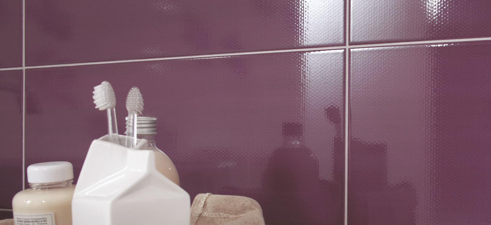 Purple tiles view our collections marazzi - Piastrelle bagno viola ...