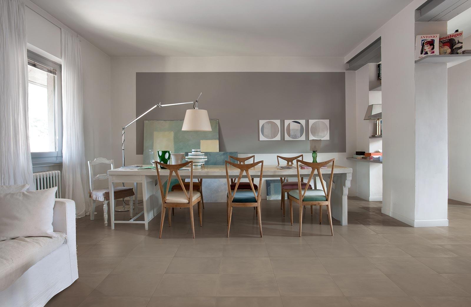 Poudre concrete effect porcelain floor tiles marazzi poudre concrete effect living room dailygadgetfo Image collections