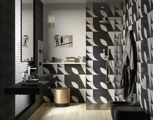 Bathroom tiles: ceramic and porcelain stoneware - Marazzi 11613