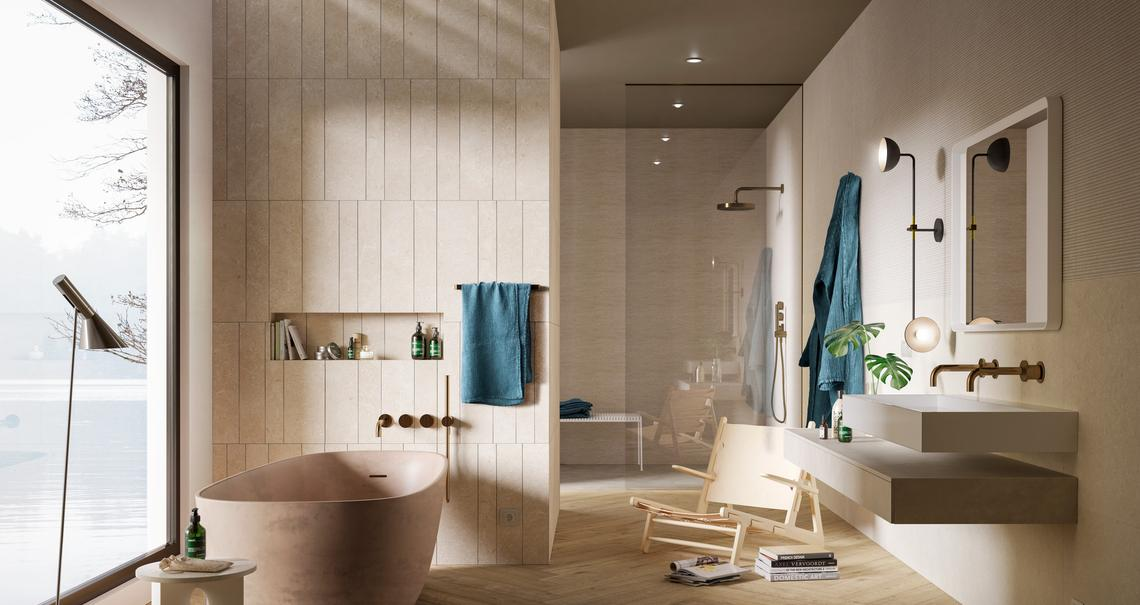 Bathroom tiles: ceramic and porcelain stoneware - Marazzi 11564