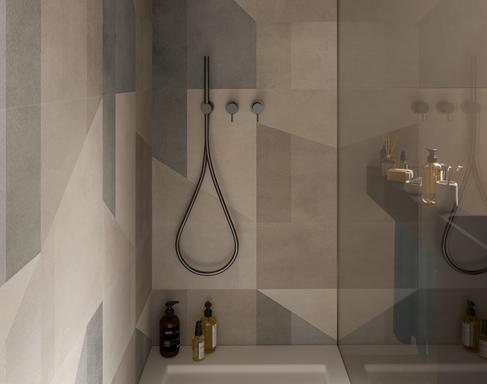 Bathroom tiles: ceramic and porcelain stoneware - Marazzi 11560