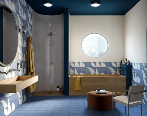 Bathroom tiles: ceramic and porcelain stoneware - Marazzi 11629