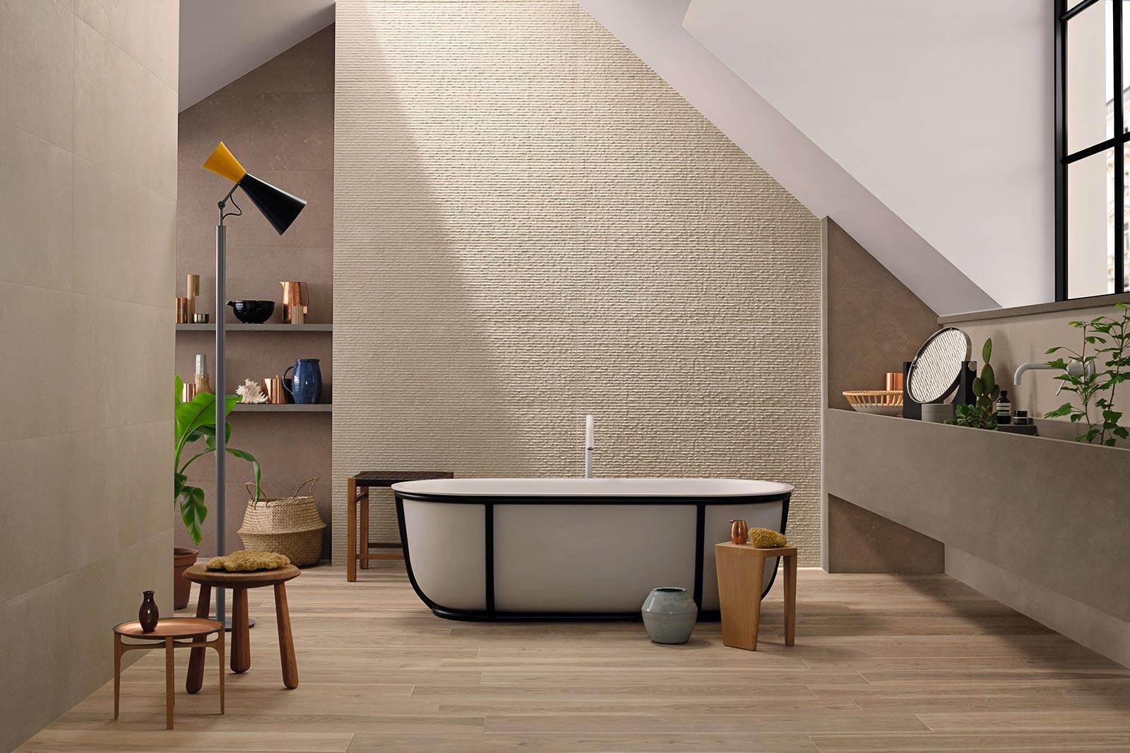 Stone art stone effect wall tiles marazzi for Wandfliesen steinoptik