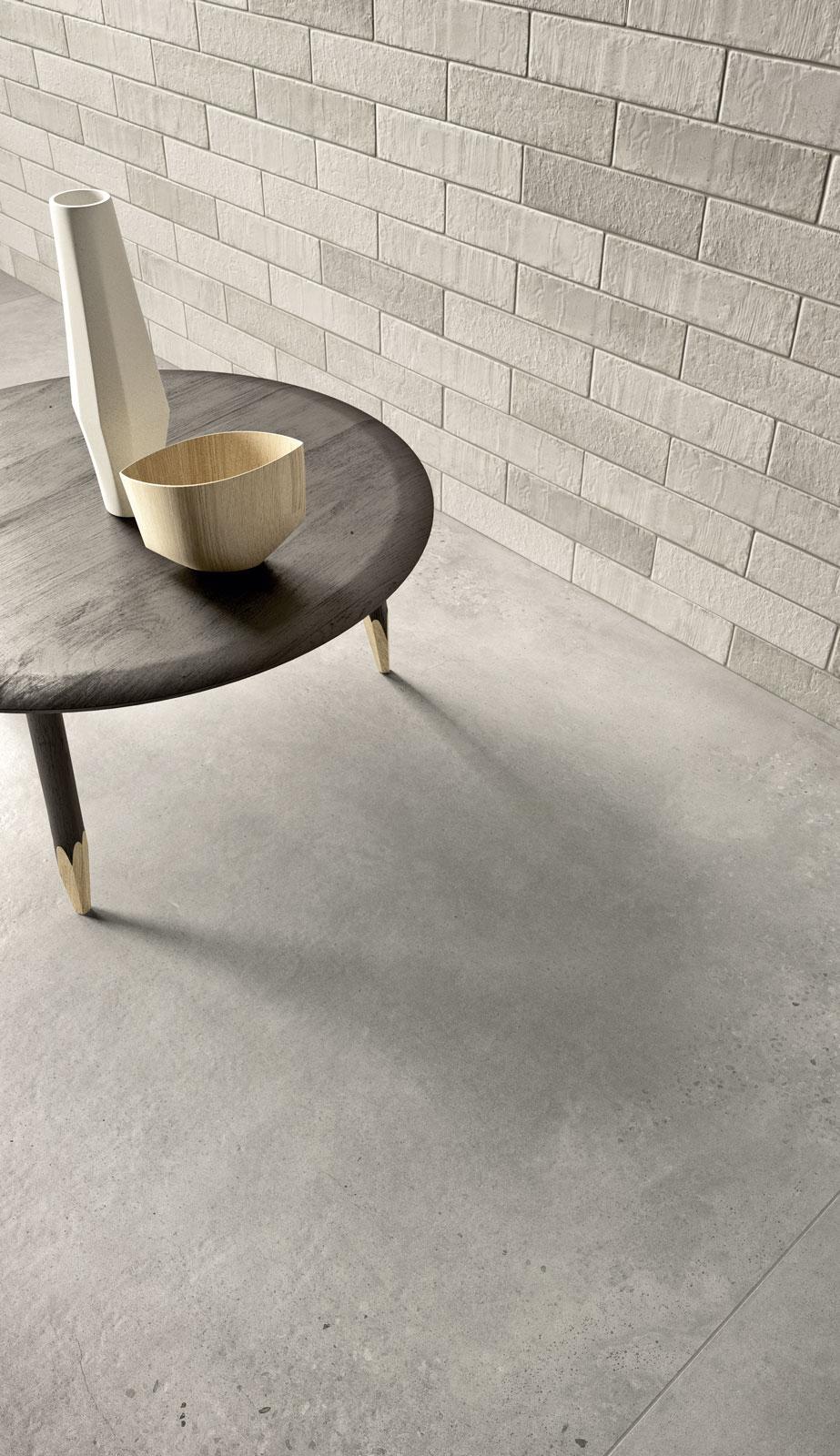 Concrete effect porcelain stoneware marazzi xlstreet concrete effect living room dailygadgetfo Image collections