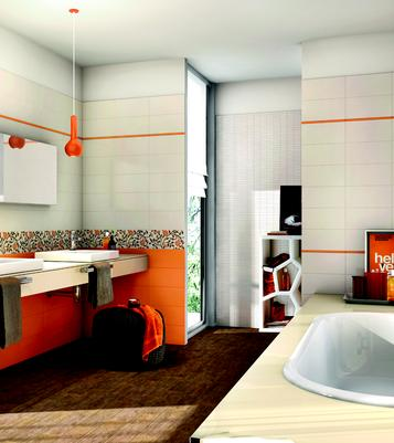 Covent Garden: Orange tiles: view the collections - Marazzi