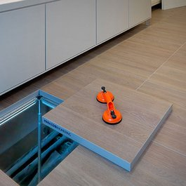 Installing a raised floor: what are the marazzi solution?