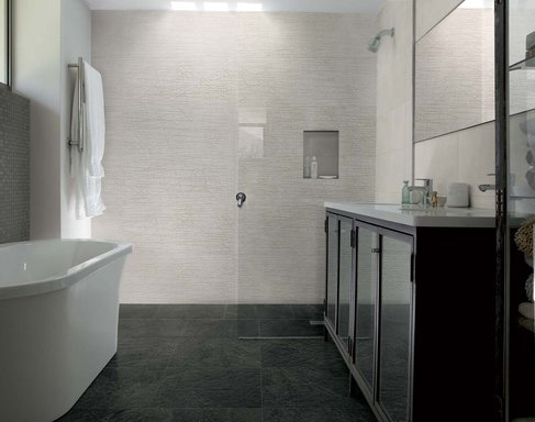 fabric the wall tiles inspired by nature marazzi rh marazzigroup com how to put wall tile in a bathroom how to install ceramic wall tile in a bathroom