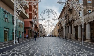 Urban carpet that maintains the Abruzzo region tradition