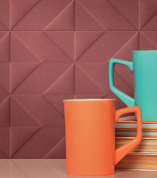 Outfit: 3D patterns and textures for the new fabric-effect wall covering