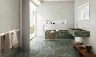 Ceramic surfaces: scenarios for hotel bathrooms