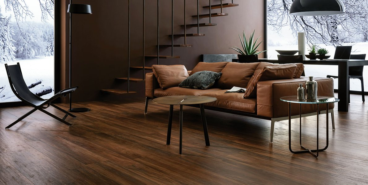 Warm your whole home with Marazzi wood-look stoneware