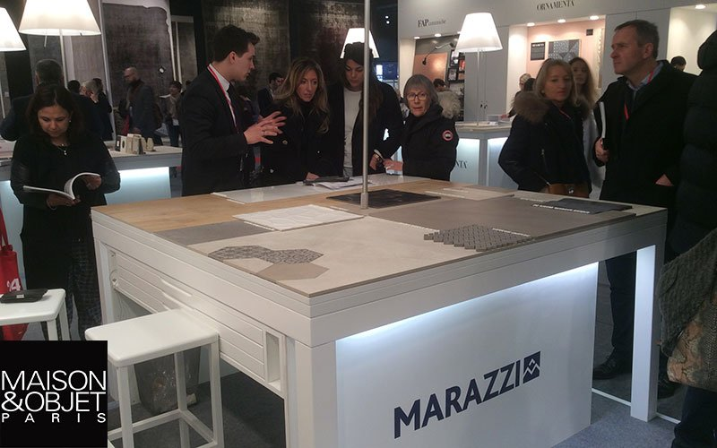 Marazzi's latest ceramic and stoneware tiles at Maison&Objet