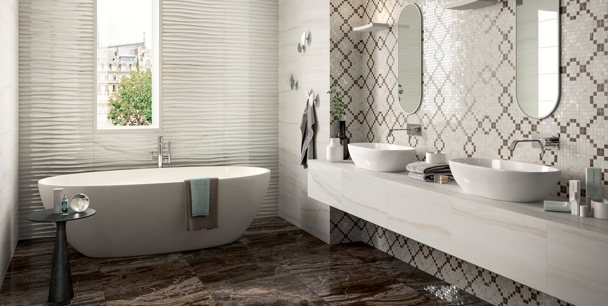 A classic and elegant bathroom. Mix&match between modernity and tradition