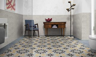 Cement and hexagon Tiles: never out of fashion