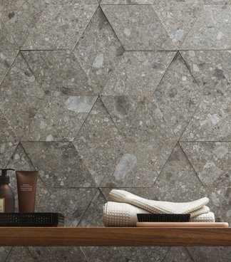 Marazzi Mystone, stone-effect stoneware becomes three-dimensional
