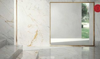 Grande Marble Look, the charm of marble and the lightness of the large slabs in 6 mm thick
