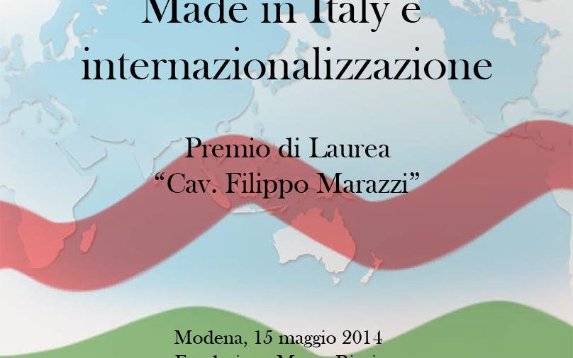 """Italian manufacturing and internationalisation: future paths and challenges"""