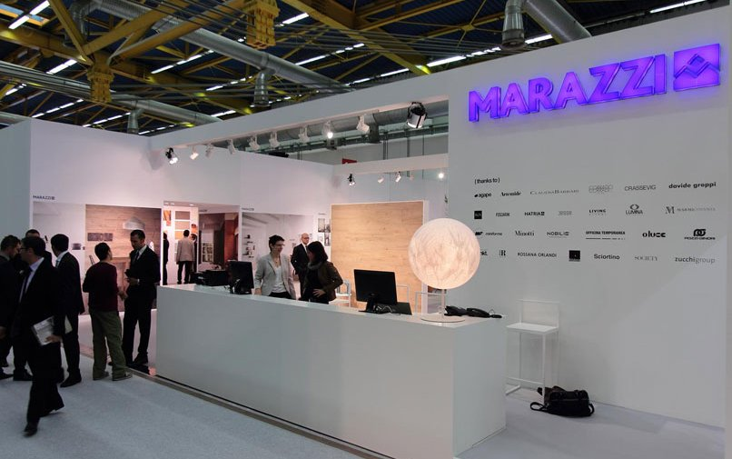 Cersaie 2012 - Marazzi, Marazzi Tecnica stands: lots of new products and masses of visitors!
