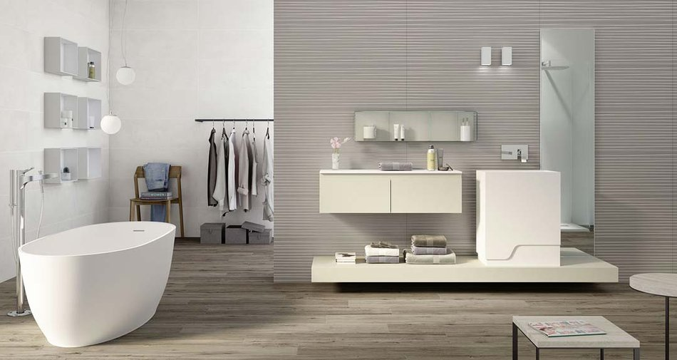 Slimline ceramic wall coverings which are perfect to renovate your home