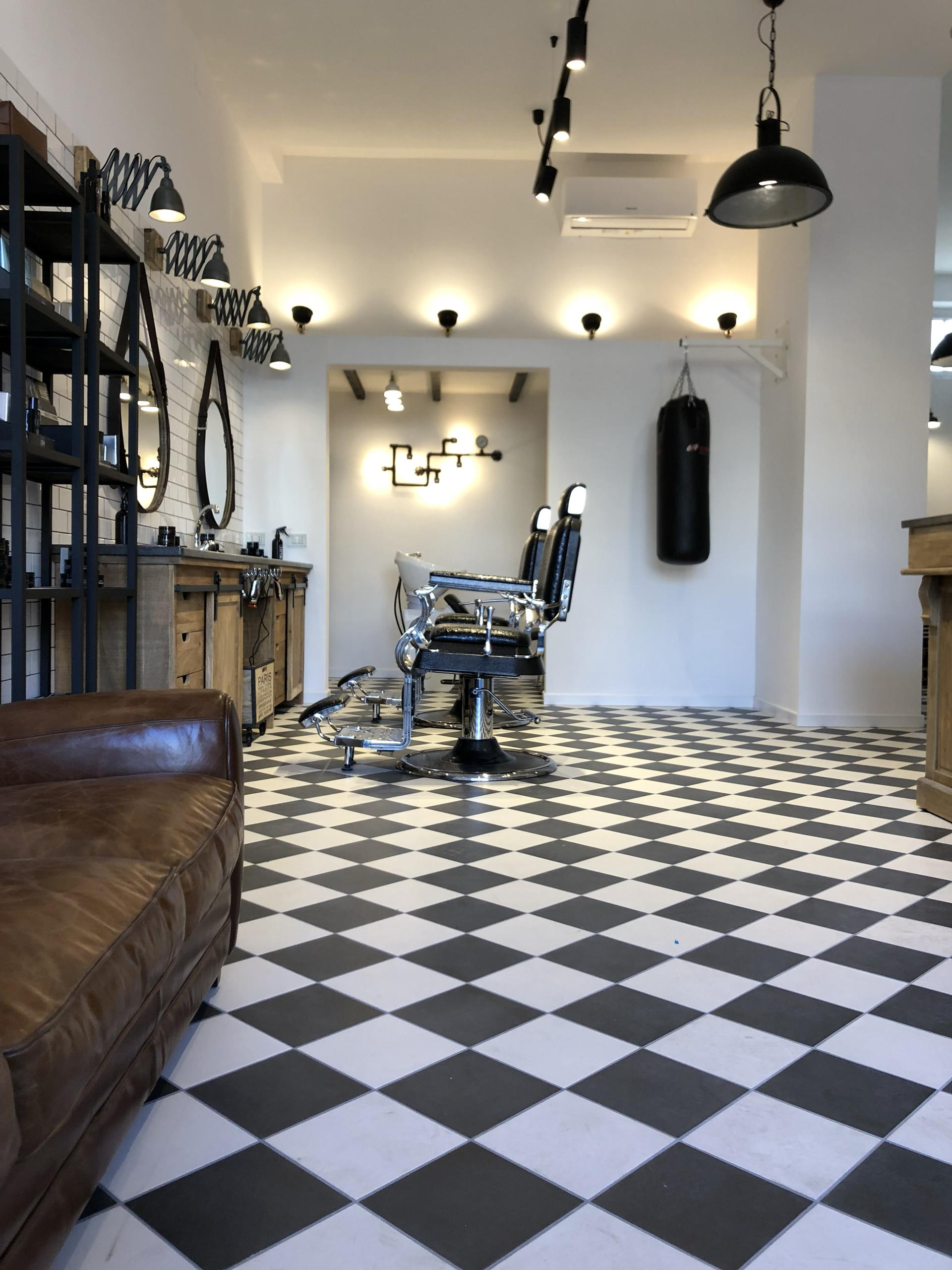 Vintage Style Tiles For The Barbers Shop In Taranto Marazzi