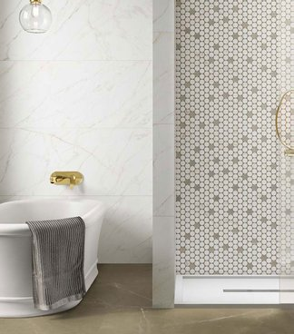 Lining your shower with mosaic tiles