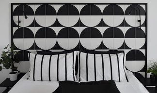 Black&white decor and geometric patterns