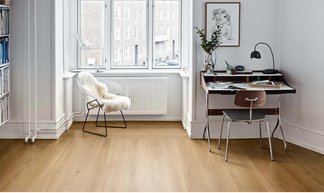 Oltre, the Marazzi approach to contemporary oak: minimal, high-tech and antibacterial