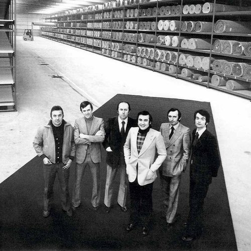 Filippo Mararazzi and staff, in 1973