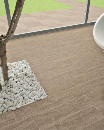 Wood effect indoor and outdoor tiles marazzi for Indoor outdoor wood flooring