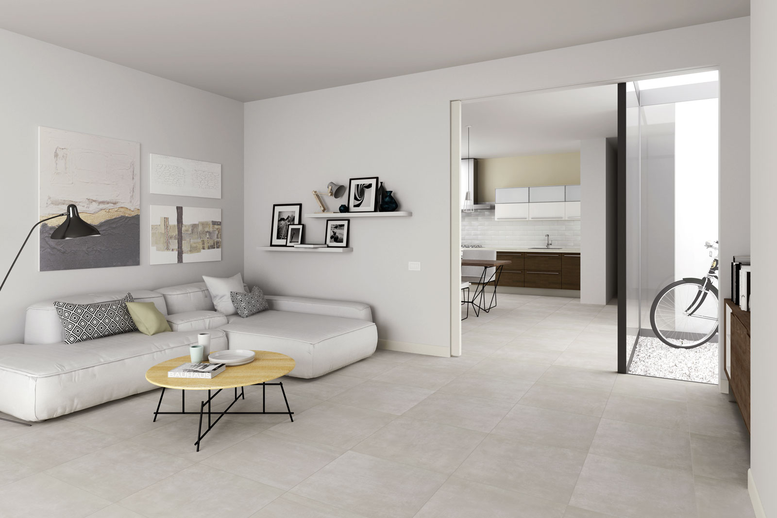 Dust concrete effect tiles marazzi for Carrelage marazzi