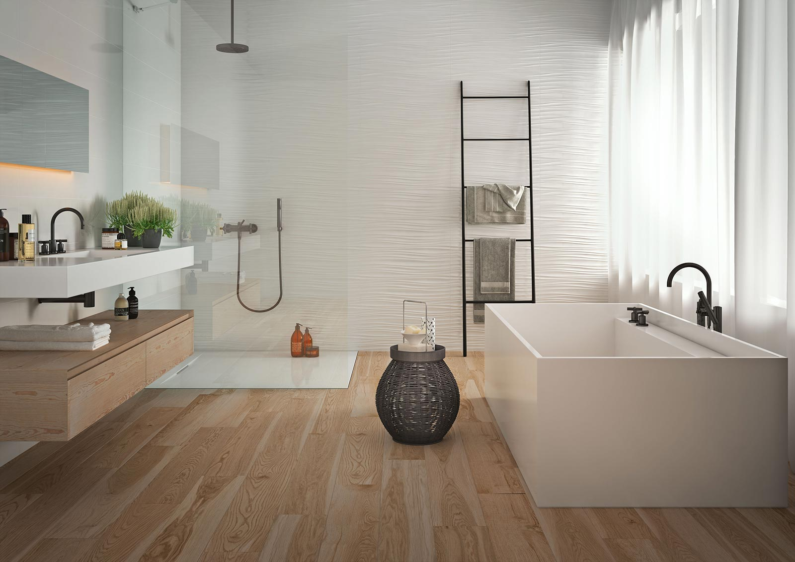 absolute white - 3d structure white wall tiles | marazzi