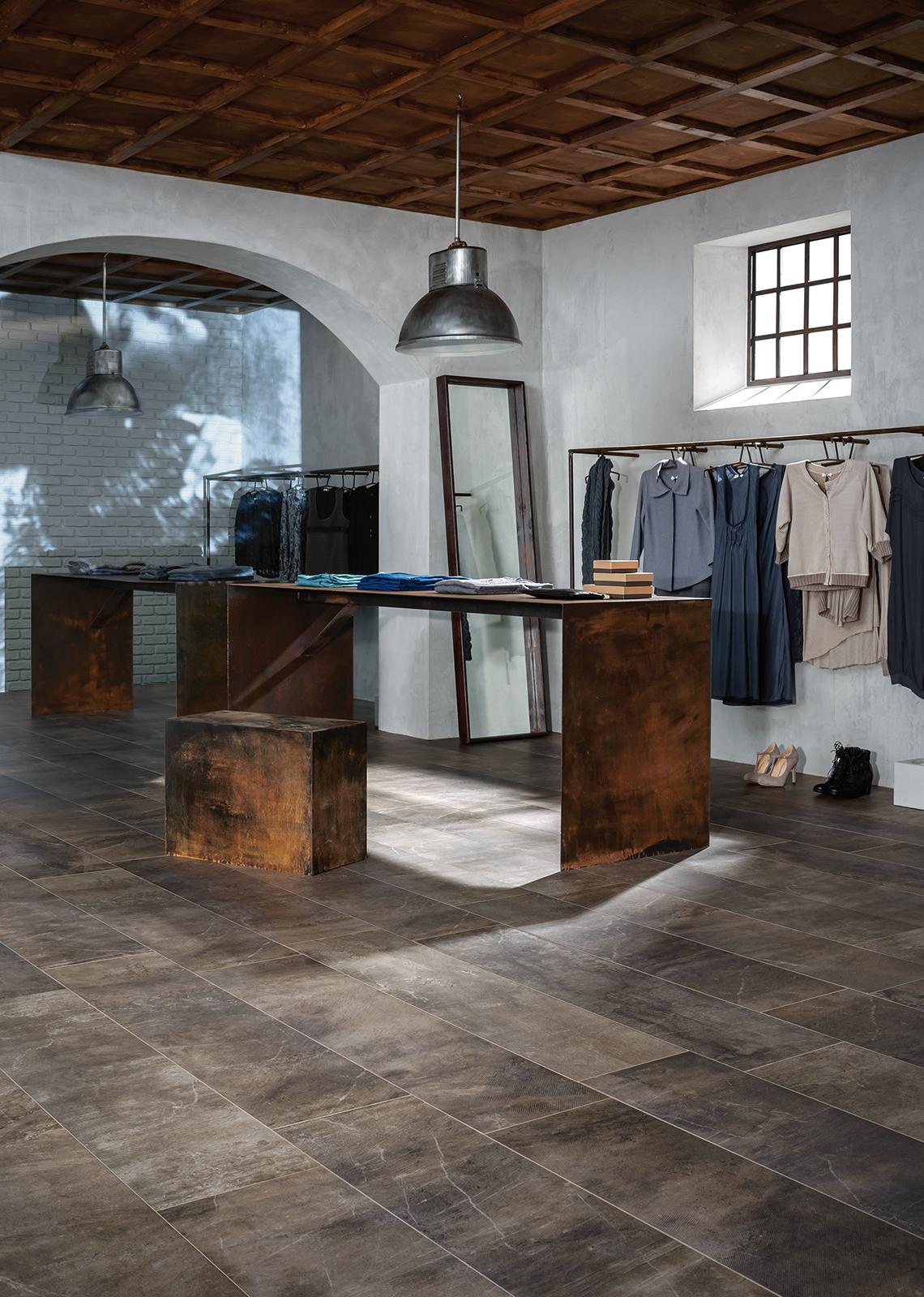 Blend satin stone effect flooring marazzi for Carrelage marazzi