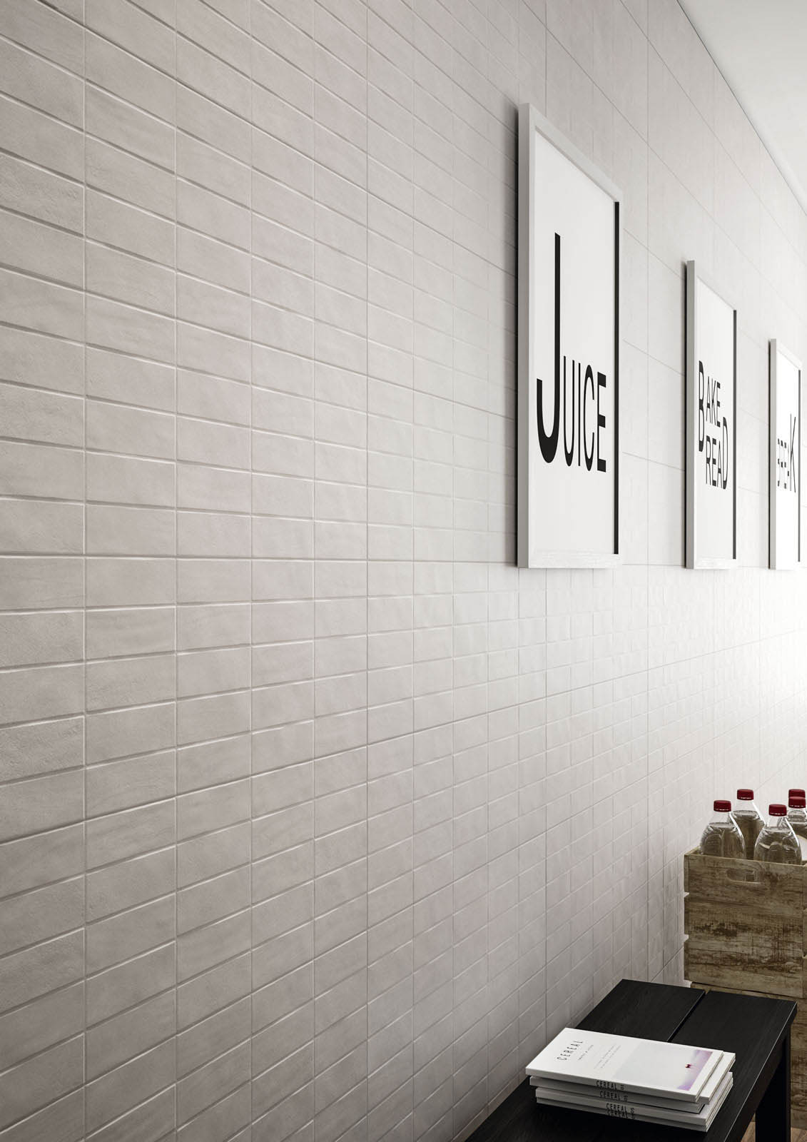 Chalk concrete look wall tiles marazzi for Carrelage 45x45